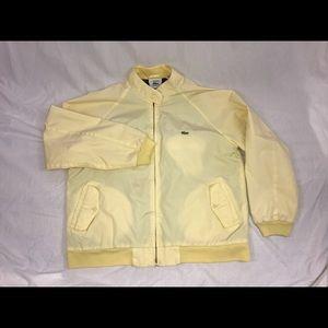Vintage Lacoste Yellow Tartan Lined Mens Jacket L